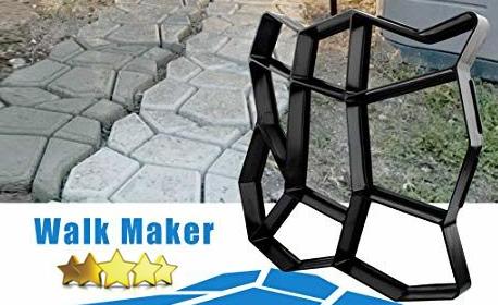 Щампа за оформяне на плочи за градинска пътека