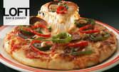 Порция прясна паста или голяма пица, плюс парче шоколадова торта