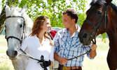 30-минутен урок по конна езда или карта за 6 урока
