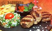 Вечеря за вкъщи! Агнешки кюфтенца, пържени картофи, салата Табуле и домашна лютеница