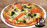 Голяма ръчно приготвена пица или паста по избор, плюс малка бира или чаша вино