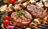 2кг плато със свински вратни пържоли и пържени картофки