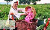 Посети Розовата долина през Май или Юни! Еднодневна екскурзия до Казанлък и розоварната в с. Търничане