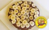 Палачинкова торта с шоколад и банан - с бяло брашно, пълнозърнеста или безглутенова