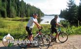 Забавления край яз. Широка поляна, Родопите! Еднодневно ползване на велосипед и гребна лодка, и занимания по ориентиране