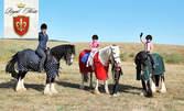 30 минути разходка с кон край Бургас, плюс инструктор - за дете или възрастен