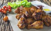 1.5кг вкусно плато със свинско месце, пилешки крилца и домашни пържени кюфтенца
