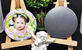12 броя кръгли магнити за кръщене или рожден ден - с дизайн по избор и снимка на клиента