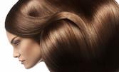 Полиране на коса с полировчик за премахване на цъфтящи крайчета - без или със измиване и изсушаване