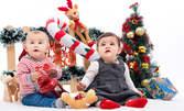 Студийна коледна фотосесия за дете или възрастен, с 5 или 12 обработени кадъра и 3 в арт вариант