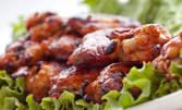 1кг апетитно плато с пилешко месце и запечени картофки с билки
