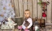 Коледна детска фотосесия в студио със 7 обработени кадъра