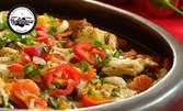 Плато за двама, с три вида месо и зеленчуци - общо 1200гр