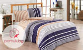 Спален комплект Carmel от ранфорс в 4 части и десен по избор