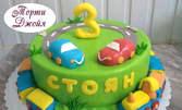 Едноетажна или двуетажна бутикова торта с до 9 орнамента