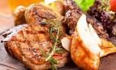 2150гр вкусно плато! Свинско и пилешко месце на скара и пържени картофки