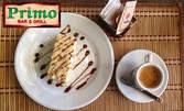 Добро утро с италианско еспресо Моак, минерална вода и бисквитена торта