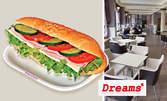 Салата, плюс сандвич или десерт, по избор