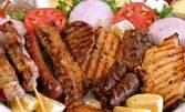 1.5кг плато! Касапски и ловджийски кюфтета, пилешки пържоли и шишчета, плюс пържени картофки