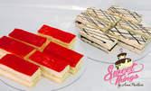 6 парчета торта по избор - бисквитена с Маскарпоне и шоколад или парфе с ягоди