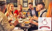 Куверт за 8 човека с меню от салата, основно ястие и десерт, по избор