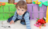 Детска фотосесия с 10 обработени кадъра, плюс комплимент - снимка 20х30см и магнитче 6х9см