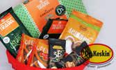 Подаръчна кошница със сладки изкушения без захар