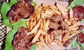 1150гр мешана скара - карначе, свинска пържола, кюфте, кебапче, пилешки крилца и пържени картофи