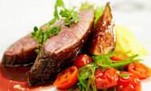 Хапнете вкусно - малка ракия, салата, основно и десерт по избор за 10.75лв