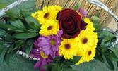 Букет или кошница с цветя по избор, с включена доставка