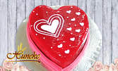 """Торта """"Валентинка"""" във формата на сърце"""
