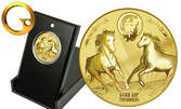 """Сребърен медальон """"Свети Тодор"""", позлатен медал или колекция от двете"""