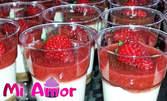 Ягодов чийзкейк с пресни ягоди в 10 парти чашки