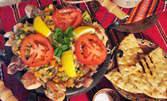 """1кг саче """"Гергана"""" с пилешко и свинско месо, и зеленчуци, плюс пърленка"""