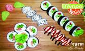 Суши сет с 20 хапки за вкъщи, с възможност за доставка