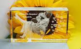 Кристален плакет с гравиранo 2D изображение или лично послание на клиента