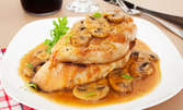 Споделете празниците! Куверт за 6 човека с меню от салата, основно ястие и десерт, по избор
