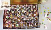 """Парти сет """"Бонбон"""" с 20 броя мини гофрети с бонбони и 5 броя цветни Cake Pops"""