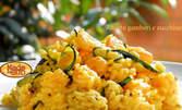 Вкус от Италия! Тортелини, Пене ал Салмоне или ризото, приготвени лично от Шеф Монетти