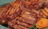 2кг плато със свински вратни пържоли на скара и пържени домашни картофки