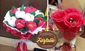 Ръчно изработен букет по избор с италиански шоколадови бонбони