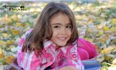 Детска фотосесия на открито - 13 кадъра на диск, плюс мини фотокнига с всички обработени снимки