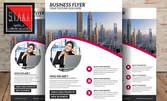 Отпечатване на двустранни флаери във формат и брой по избор, с дизайн на клиента