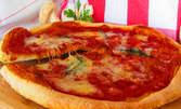 Брускети с маринован патладжан или тиквички, плюс пица по избор