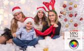 Коледна студийна фотосесия за деца с 12 обработени кадъра