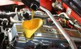 Смяна на масло и маслен филтър на автомобил, плюс 4л моторно масло Areca