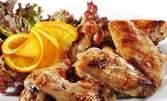1500гр апетитно плато! Пържени пилешки крилца и картофки