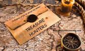 1 час игра за вашите деца в единствената по рода си стая за отборна игра на живо Treasure Hunters