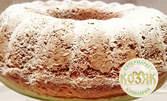 Домашен кекс с орехи и пудра захар