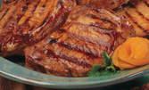 2кг плато за дружина! Свински и пилешки пържоли, плюс пържени картофки